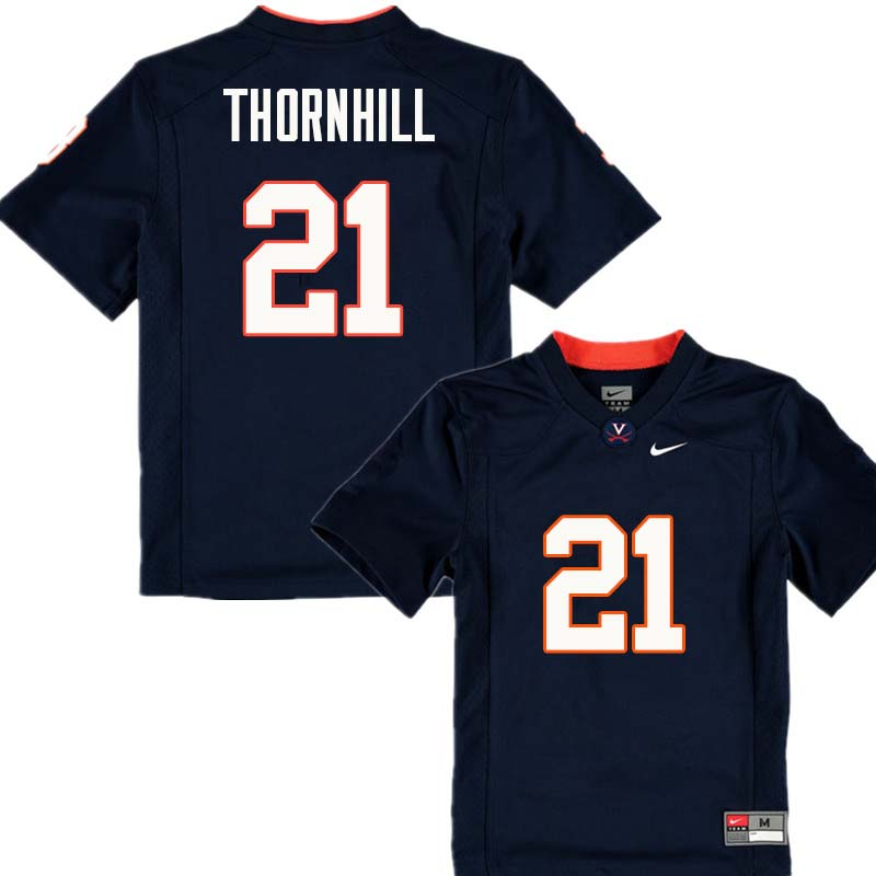 Men #21 Juan Thornhill Virginia Cavaliers College Football Jerseys Sale-Navy