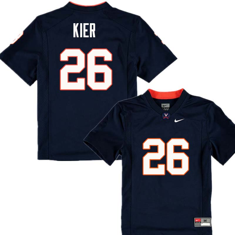 Men #26 P.K. Kier Virginia Cavaliers College Football Jerseys Sale-Navy