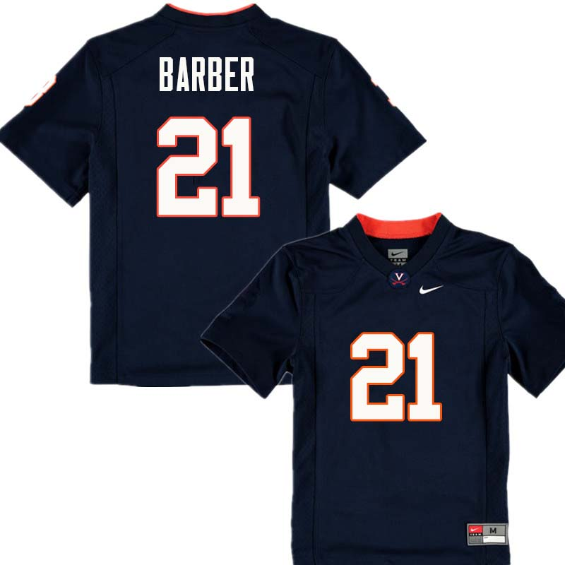 Men #21 Tiki Barber Virginia Cavaliers College Football Jerseys Sale-Navy