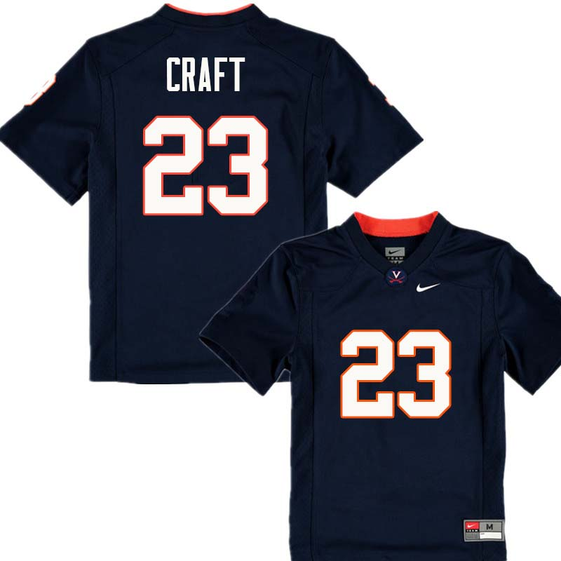 Men #23 Warren Craft Virginia Cavaliers College Football Jerseys Sale-Navy