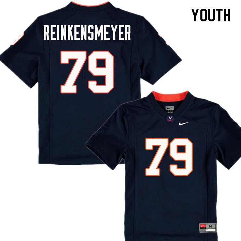 Youth #79 Dillon Reinkensmeyer Virginia Cavaliers College Football Jerseys Sale-Navy