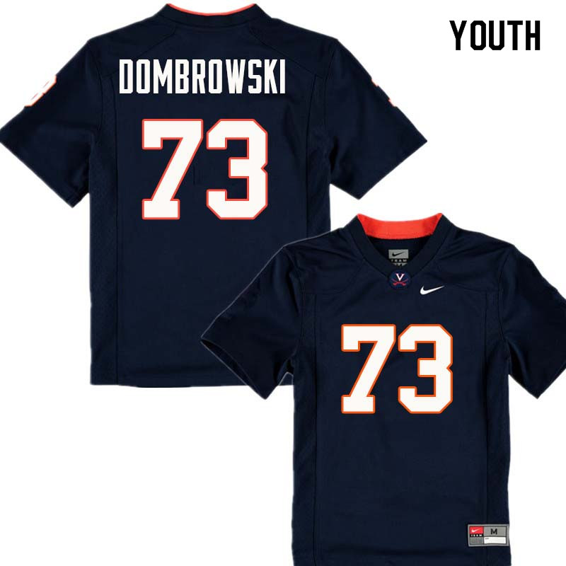Youth #73 Jim Dombrowski Virginia Cavaliers College Football Jerseys Sale-Navy