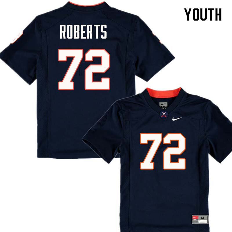 Youth #72 Ray Roberts Virginia Cavaliers College Football Jerseys Sale-Navy